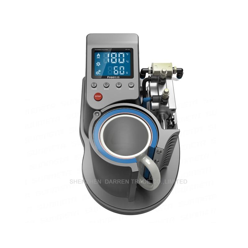 Free shipping by DHL 2015 Mini Pneumatic Vertical Multi-function Heat Transfer Press Thermal Printing Mug Cup Machine ST110