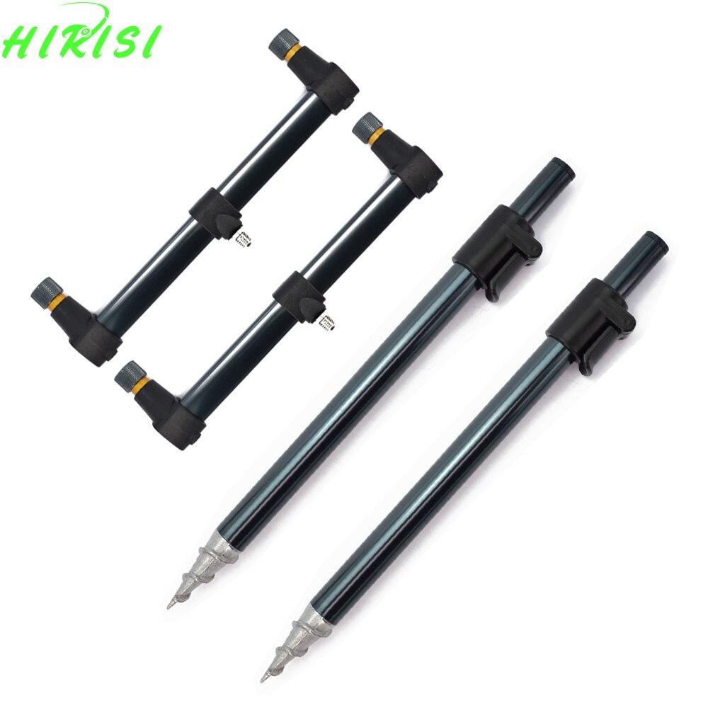 Carp Fishing Rod Pod Set 2pcs Bank Sticks and 2pcs Buzz Bars Butt for Carp Coarse Fishing Tackle