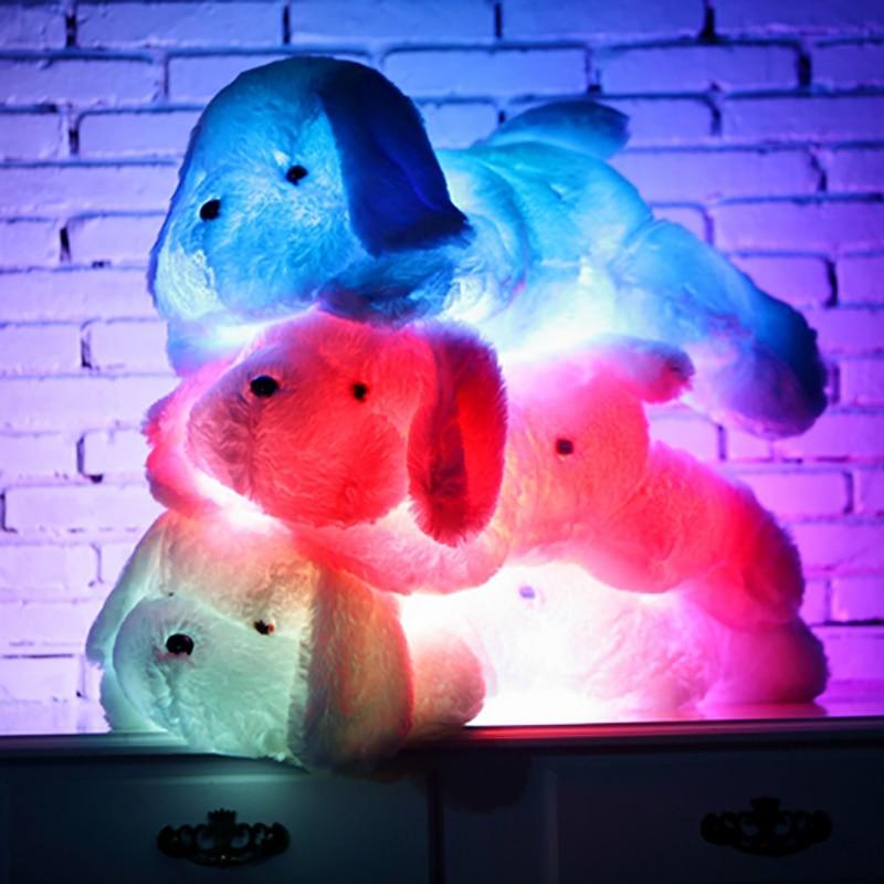 Creative 1pc 50cm/80cm Led Light Plush Dog Pillow Toys Luminous Glowing Gleamy Plush Dog Cushions Kids Toy For Children Birthday Gift Choice Materials Plush Light - Up Toys
