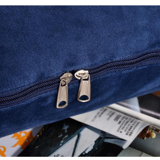 Multiusos 2 en 1 cojín de franela manta coche sofá lumbar tiro almohada aire acondicionado manta plegable patchwork manta ropa de cama