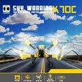 2016 Новый Высокой четкости KAIDENG K70C Sky Warrior 2.4 Г 4CH 6 Оси 2.0MP Камера RC Quadcopter гироскопа 3D Флип Безголовый Режим ЕС Plug