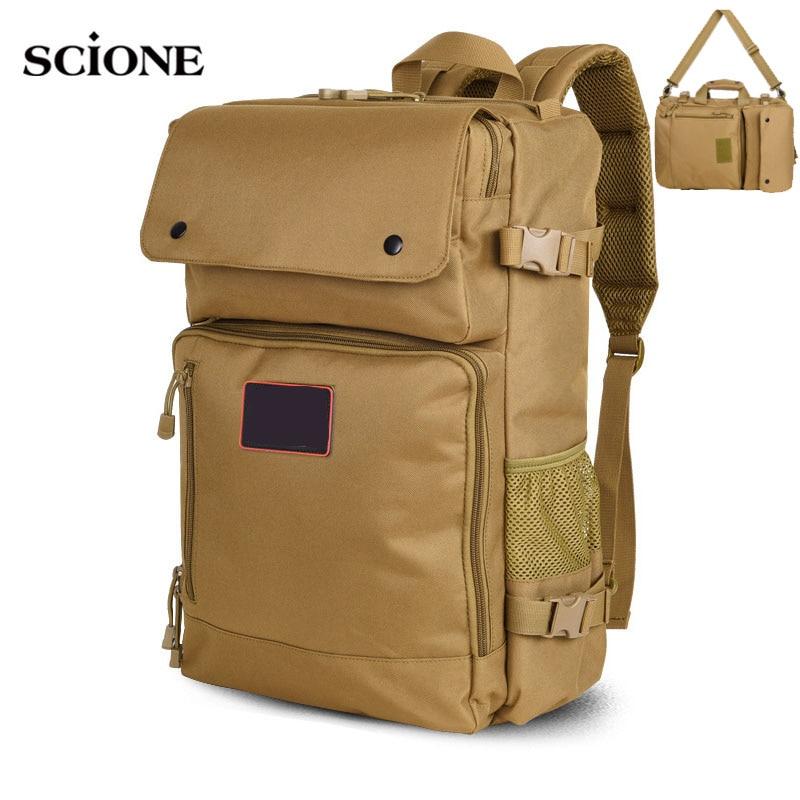 Military Tactical Backpack Large Capacity Mountaineering Camping Bag Handbag Men's Hiking Rucksack Travel Pack Outdoor XA791WA
