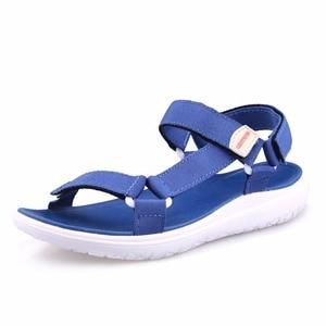 Image 2 - GRITION Women Sandals Fashion Summer Lightweight Beach Ladies Flat Platform Casual Walking Shoes Comfortable Blue Gray Green New
