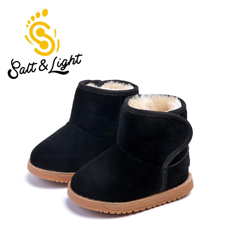 db310985c402f US $8.54 5% OFF|Winter Children cotton thick snow boots keep warm flat  heels baby shoes kids solid comfortable non slip boots for boys girls-in  Boots ...