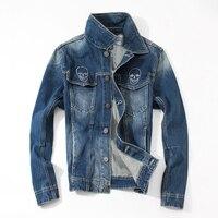 Men Denim Jacket 2016 Autumn Winter Coat Plus Size Male Vintage Jean Jacket Washed Fashion