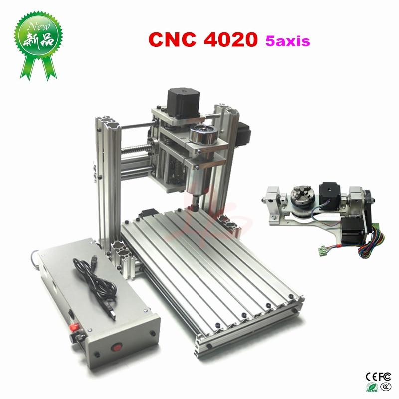 Mini DIY 4020 CNC Metal Milling Machine Mach3 ER11 CNC Woodworking Machine PCB Engraver In Wood Routers jewrlry Machine 1