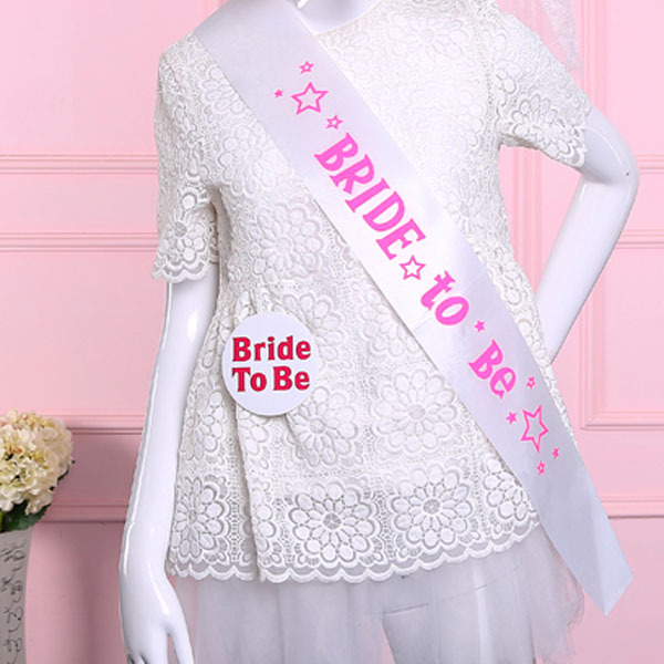 12 pcs of Wedding party supplies Girls night out sash white bride to be bachelorette Hens night events party supplies mariage 3