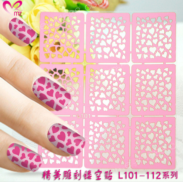 ⑥18pcs Heart-Shape Nail Art Stickers Nails for Polish Gel ...
