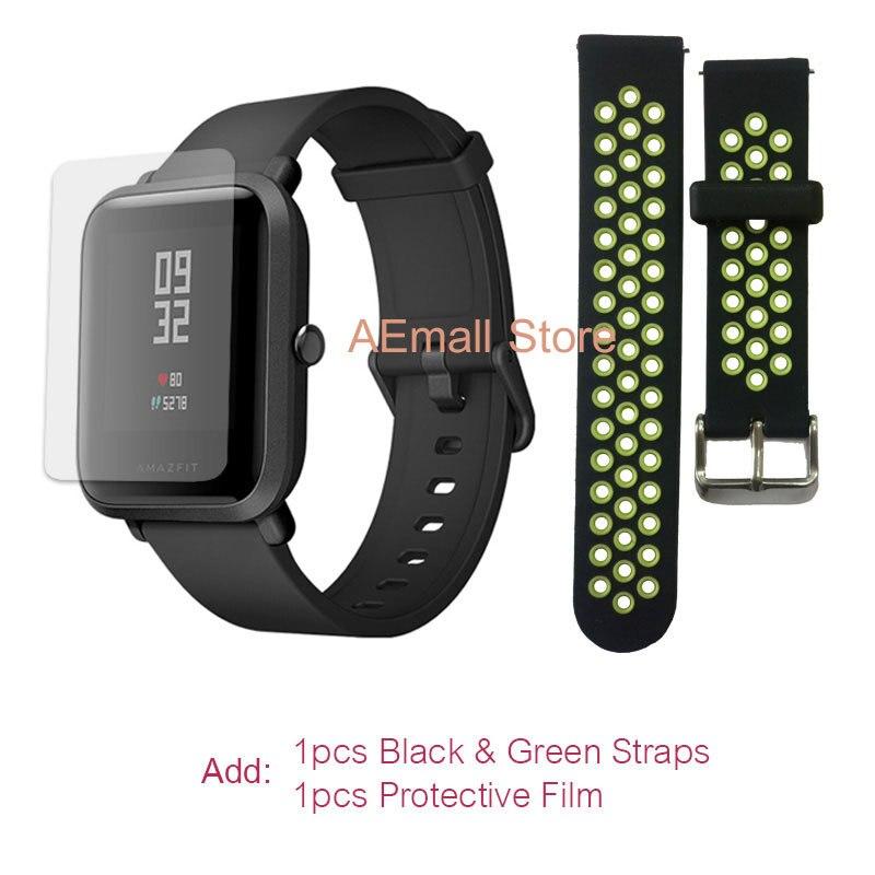 $57.99 = $59.99- $2 CUPÓN Versión inglesa Xiaomi reloj inteligente Amazfit Bip para hombre Hua mi Pace Smartwatch para IOS Android Monitor de ritmo cardíaco 45 días de batería - 3