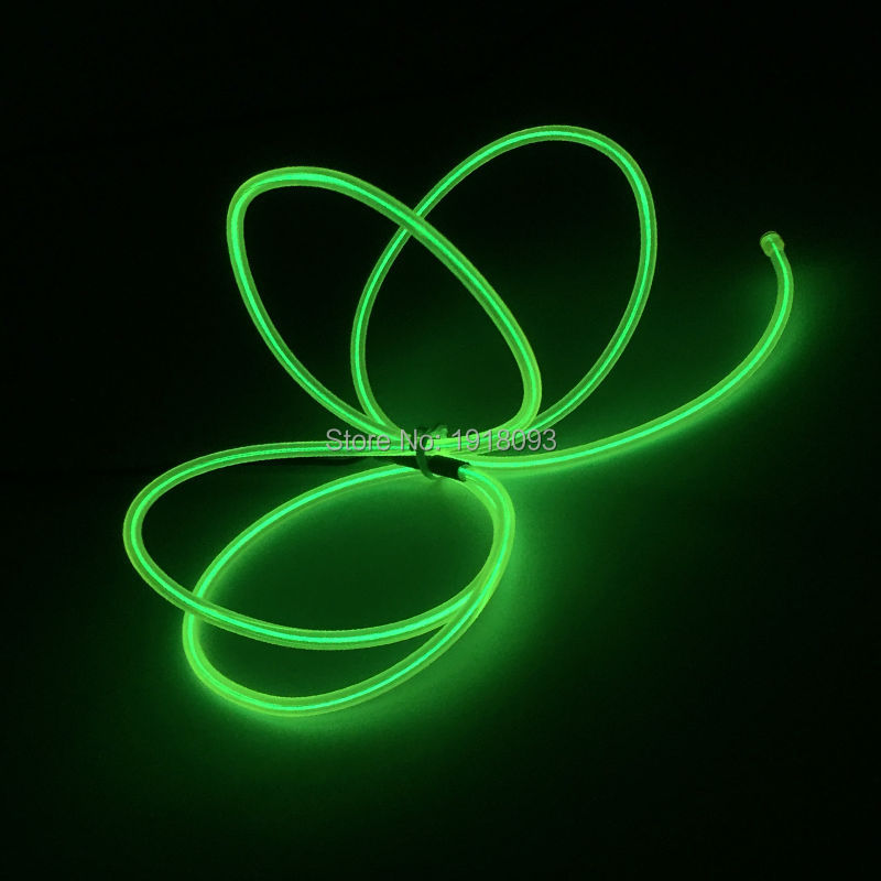 Blinking Color Lemon green 1Meter 3.2mm EL Wire Flexible EL wire rope cable Glowing Party Lighting
