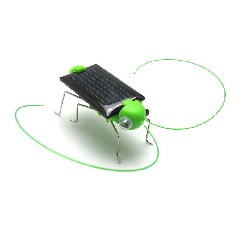 New 4*1.8 cm Solar Power Toy Energy Crazy Grasshopper Cricket Kit Christmas Gift Toys Baby Toys A ...