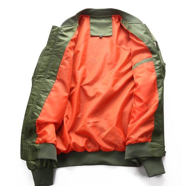 DIMUSI Bomber Jacket Mens  Ma-1 Flight Jacket Pilot Air Force Male Ma1 Army Green Military motorcycle Jacket and Coats 6XL,TA039 3
