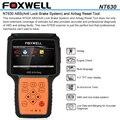 Оригинал Foxwell NT630 Автомастер Pro ABS Подушка Безопасности Сканирования Сброс Инструмент Подушка безопасности Сброс Данных Краш Автомобиля Диагностический Сканер