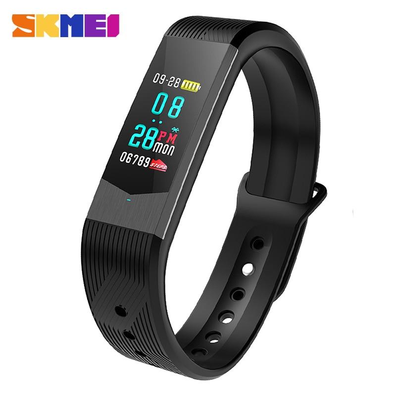 SKMEI Men Women Sport Smart Wristbrand Smartwatch Bluetooth Call Remind Sleep Tracker Man Female Smart Brecelet