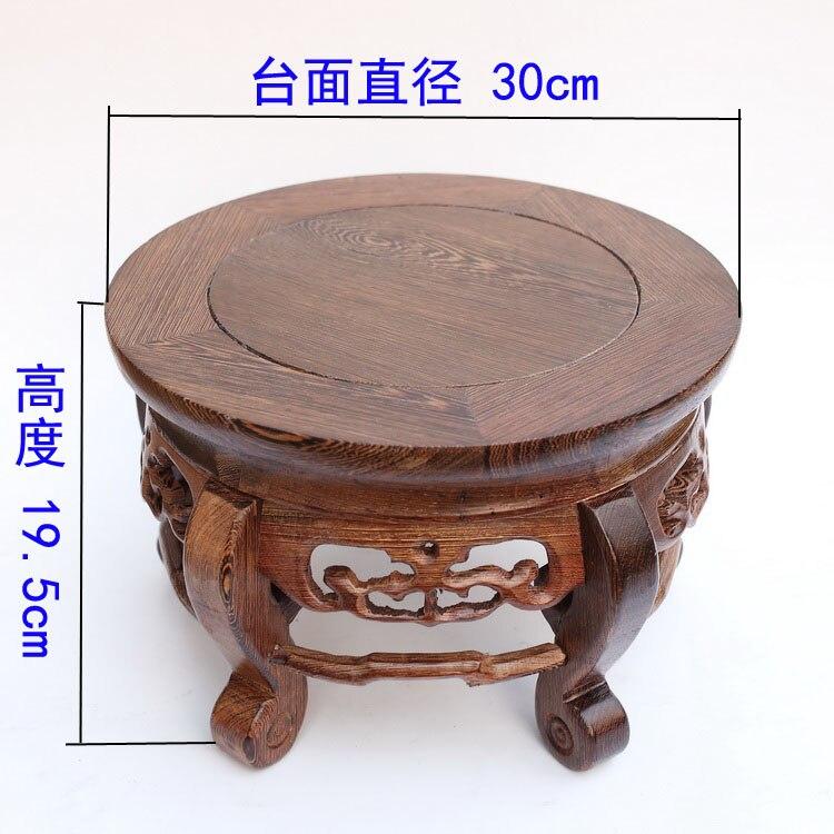 Красный древесины натурального дерева бытовой действовать роль пробован ремесленных предметы мебели ваза танк круглое основание распрода...