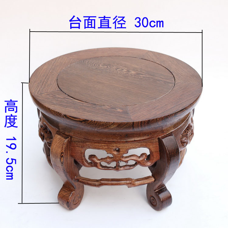 Red wood real wood household act the role is tasted handicraft furnishing articles vase tank round base on sale solid wood carved wooden vase flowerpot tank round big base household act the role ofing is tasted handicraft furnishing