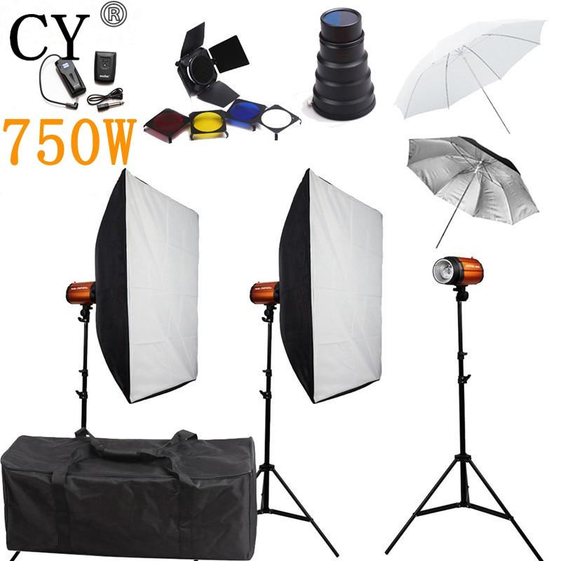 Kits fotografike fotografike CY Studio për ndriçim 750ws Storbe - Kamera dhe foto
