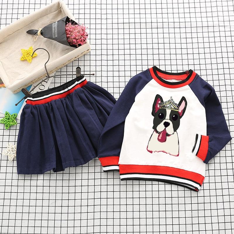 Baby Girl Sports Clothes Set Boy Longsleeve Pants Sets Kids 2PCS Coat Children Cute Cartoon Bear Outfits Children Clothing Dress