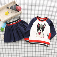 Baby Girl Sports Clothes Set Boy Longsleeve Pants Sets Kids 2PCS Coat Children Cute Cartoon Bear Outfits Children Clothing Dress