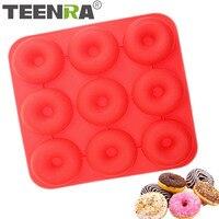 Teenra 1ピース9穴シリコーンdonutnut型ラウンドシリコーンケーキ型チョコレートメーカードーナツケーキフォーム金型
