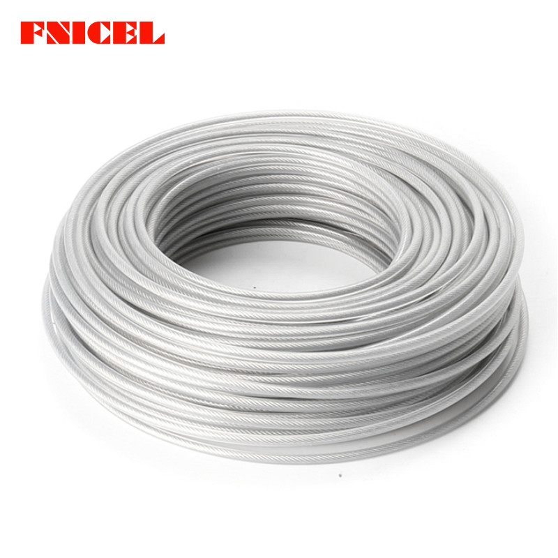 Brush Cutter Nylon Line For Garden Tools Parts Can Be Repeatedly Remolded. 3.0mm 450g Trimmer Wire Rope Cord Line Grass Trimmer Line Inside With Steel Wire Garden Power Tools