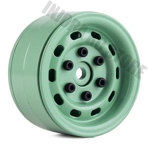 "Image 1 - 4PCS 1.9"" Metal Beadlock Wheel Rim for 1/10 RC Crawler Car Axial SCX10 Tamiya CC01 D90 Defender Traxxas TRX 4 Wheel Hex"