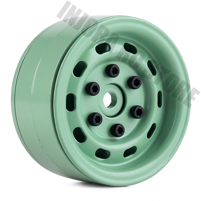 "4PCS 1.9"" Metal Beadlock Wheel Rim for 1/10 RC Crawler Car Axial SCX10 Tamiya CC01 D90 Defender Traxxas TRX 4 Wheel Hex"