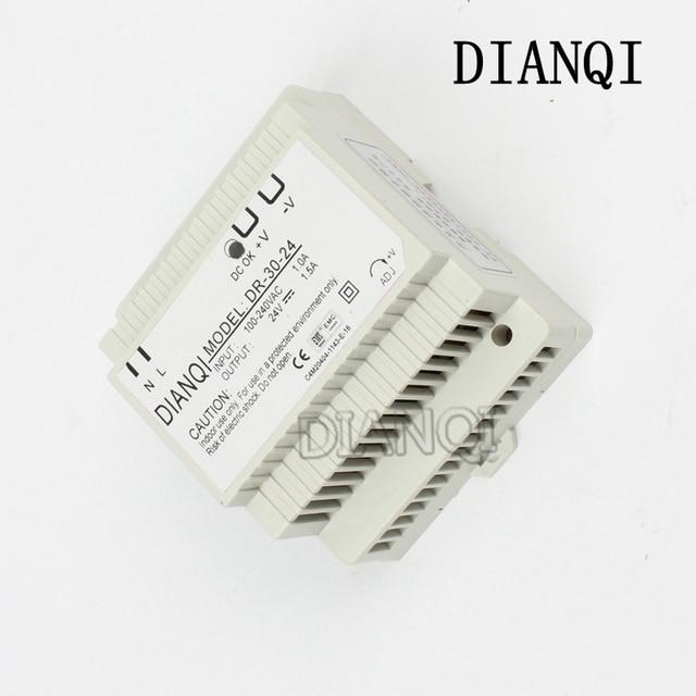 DIANQI Din rail power supply 30w 24V power suply 24v 30w ac dc converter good quality dr-30-24