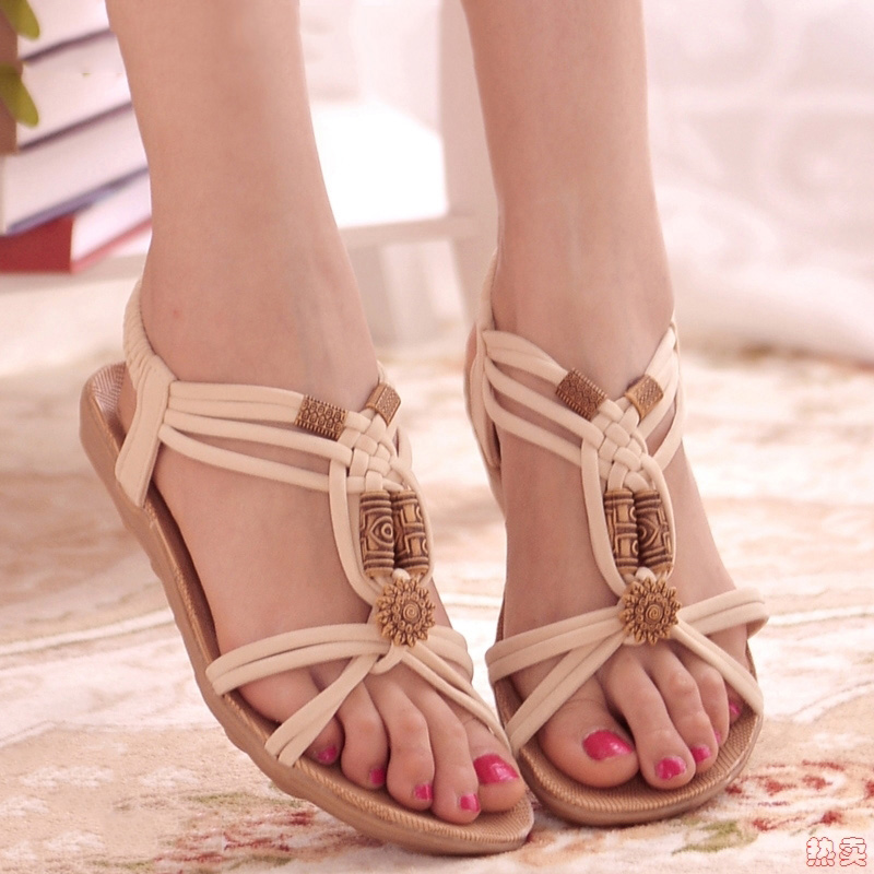Women Sandals Bohemia Style Summer Shoes For Women Flat Sandals Gladiator Beach Shoes Sandalias Mujer 2019 Casual Summer SandalsWomen Sandals Bohemia Style Summer Shoes For Women Flat Sandals Gladiator Beach Shoes Sandalias Mujer 2019 Casual Summer Sandals