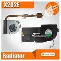 Новый вентилятор процессора радиатор для For Asus VivoBook S200E X201E X201EP X202E Улучшенный радиатор медная труба лучшая алюминиевая трубка AB05105HX060B00