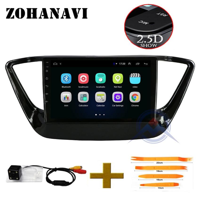 ZOHANAVI 2 5D IPS Android Car DVD Multimedia Player GPS For Hyundai Verna Solaris 2017 2018