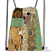 Custom Drawstring Backpack Drawstring Backpack Bag Cute Daypack Kids Satchel (Black Back) 31x40cm#180531-04-11