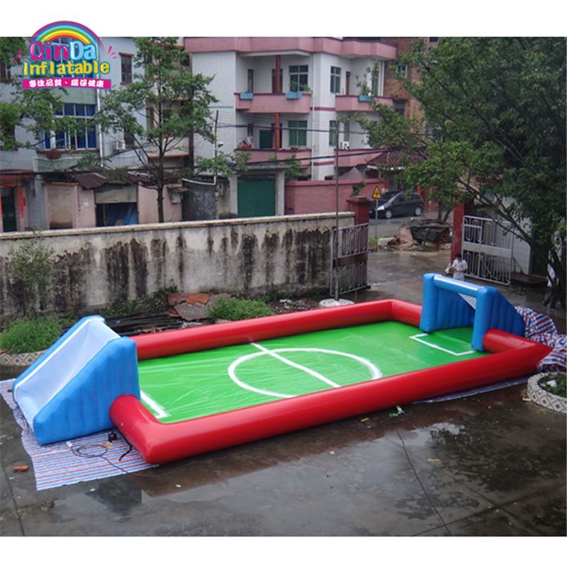 Factory Pirce Various Inflatable Sport Games, Standard Size Inflatable Soap Soccer Football Field For SaleFactory Pirce Various Inflatable Sport Games, Standard Size Inflatable Soap Soccer Football Field For Sale
