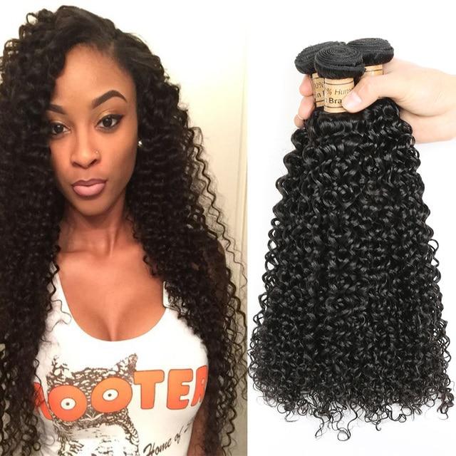 Malaysian Kinky Curly 3 Bundles Afro Kinky Hair Human Hair Weave