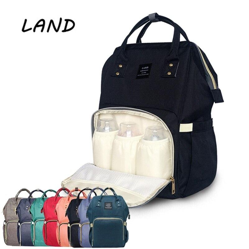 a1b16df27cc LAND Fashion Diaper Bag Mummy Maternity Nappy Bag Brand Large Capacity Baby  Travel Backpack Designer Diaper Nursing Bag for Baby