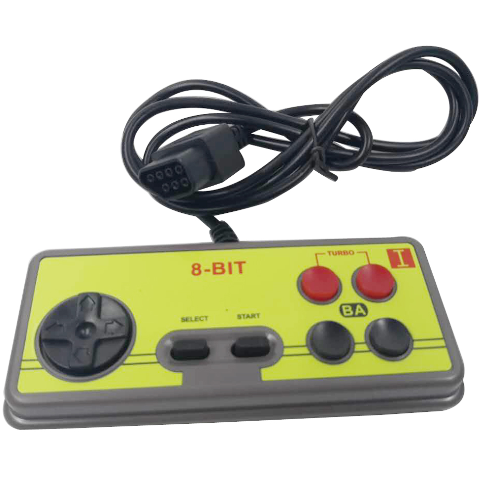 Japanese 8-bit Console Style 7 Pin Plug Cable GamePad Controller For N-ES With Turbo A B Button