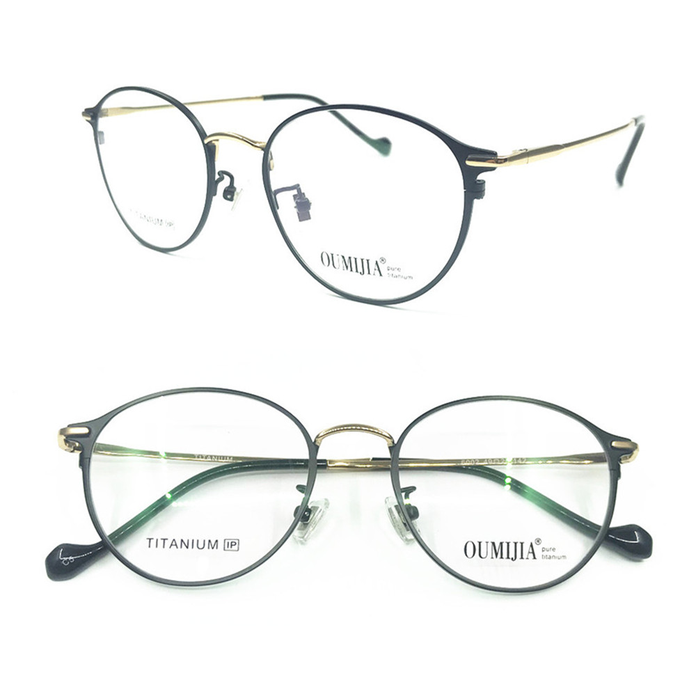 697cf7306798 100% Pure Titanium Vintage Oval Round Eyeglass Frames Full Rim Rx able Hand Made  Glasses
