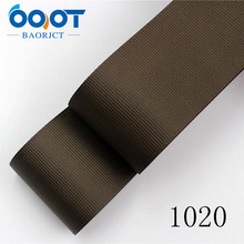 OOOT BAORJCT 178033 38mm 10yard Solid Color Ribbons Thermal transfer Printed grosgrain Wedding Accessories DIY handmade material