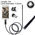 5.5mm lente mirco usb android otg usb endoscopio cámara hd android de windows smartphone 3.5 m 5 m a prueba de agua serpiente tubo boroscopio 720 p
