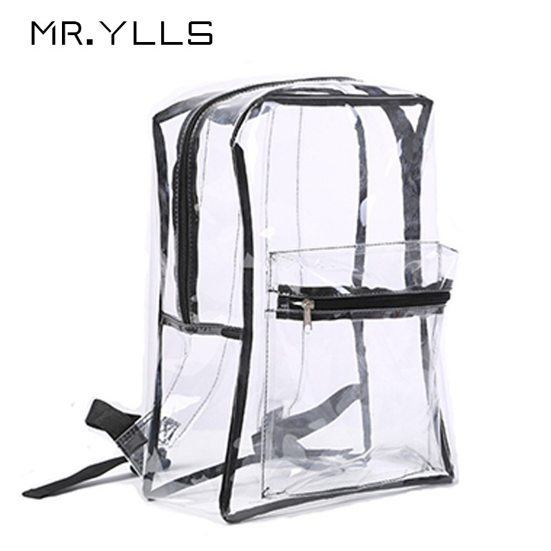 Clear Transparent Pvc Backpack Women Schoolbags Teen Girls Candy Color Jelly Bags Bookbag Ladytravel Backpack Crystal Beach Bags