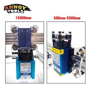 Image 2 - $231.68 $8 $2 = $ 221get 15W CNC לייזר חריטת מכונת 3500mW 15000mw לייזר מודול 30*40cm CNC לייזר קאטר עץ נתב