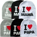 Baby Hat Spring Autumn Hat Child Cotton Knitted I Love Mom I Love Dad Caps For Boys Girls Children's Winter Hats