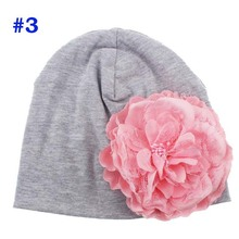 Baby Flower Hat Newborn Girl Cotton Beanie Cap Peony Flower Infant Spring Hat Children Accessories Retail SW057
