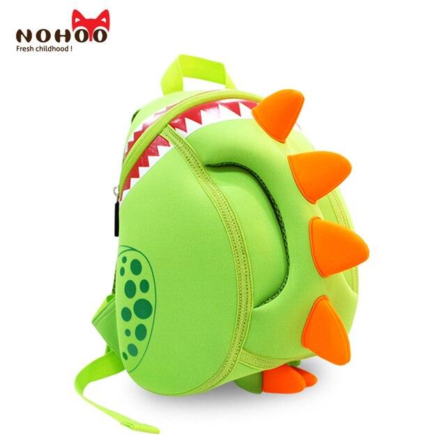 NOHOO Cute Dinosaur Baby Kid's Backpack Waterproof Neoprene Children School  Bags Boys Girls 3D Cartoon Bags for 2-5 Years Old