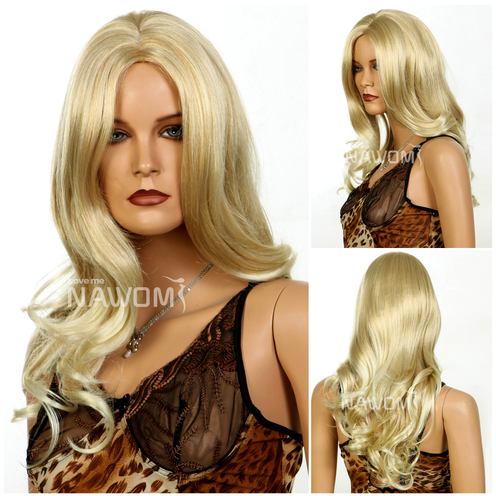 Free Shipping New Style Girls Sexy Blonde Long Wavy -3953