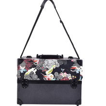 The New big size skull flower ABS&PU Make up Box Makeup Case Beauty Case Cosmetic Bag Multi Tiers Lockable Jewelry Box