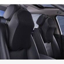 Car seat headrest Head Restraint Neck Rest Soft 3D Space Memory Foam Leather Auto Headrest
