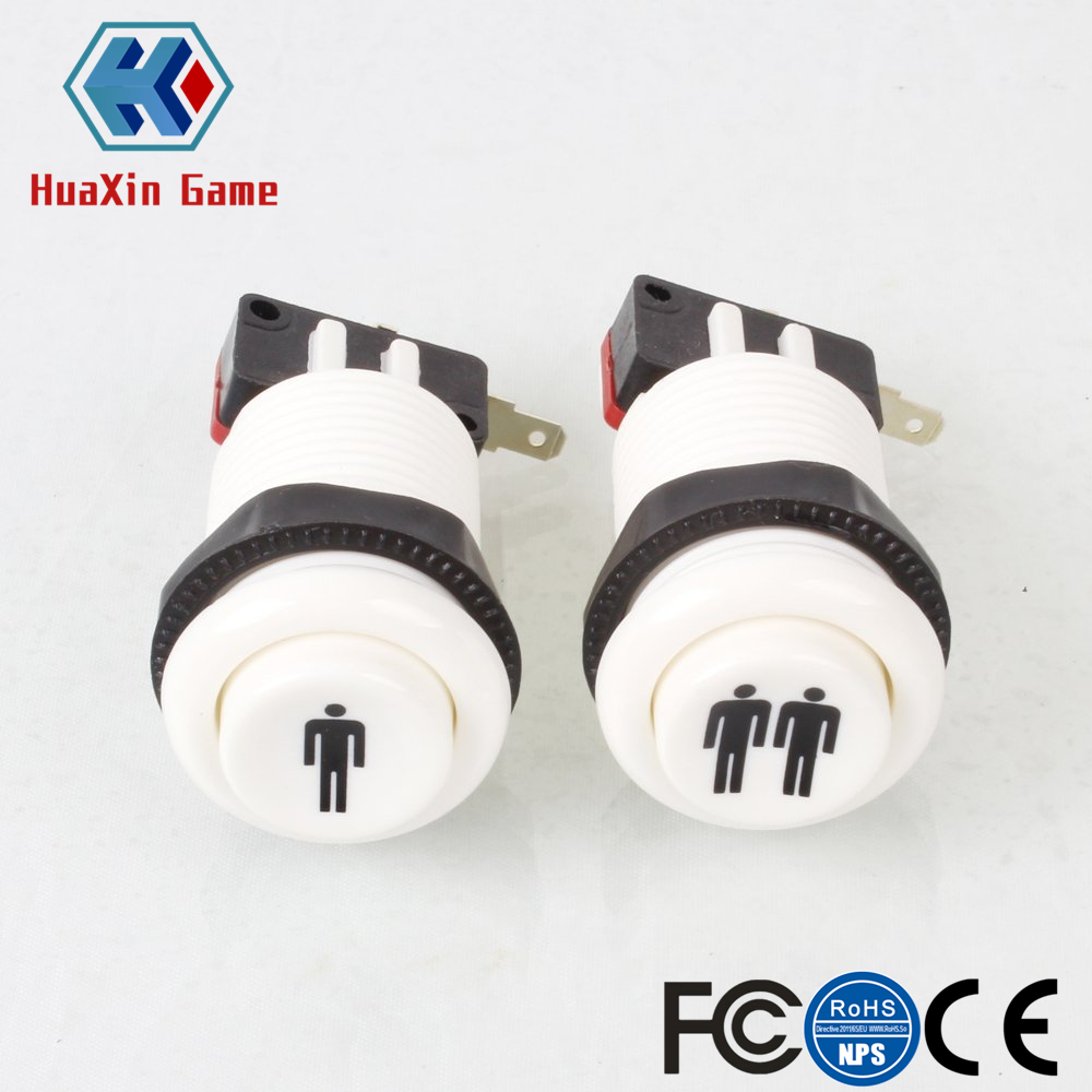 Happ Style 1 Player / 2 Player Start & Home Push Buttons With Micro Switch For Arcade Machine Games Mame Jamma Parts