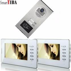 "SmartYIBA квартира домофон Системы 2 монитора 7 ""HD Цвет телефона двери видео звонок Домофон Системы 2 дома"