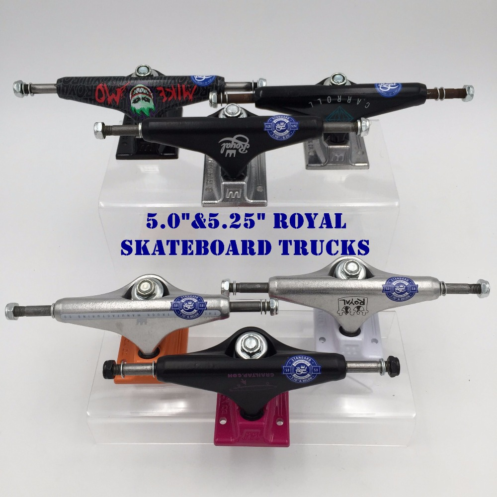 Original USA 5.0&5.25 Royal MIKE MO Truck for Skateboarding made by Aluminum with spitfirie logo Cool Black Truck Skate Board